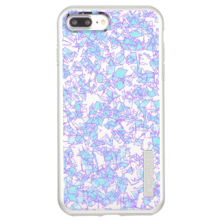 Frosty World Blue Pink Futuristic Laser Snow Incipio DualPro Shine iPhone 7 Plus Case