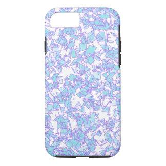 Frosty World Blue Pink Futuristic Laser Snow iPhone 7 Case
