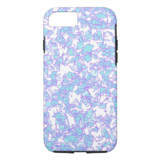 Frosty World Blue Pink Futuristic Laser Snow iPhone 8/7 Case