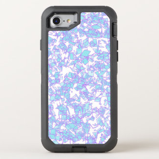 Frosty World Blue Pink Futuristic Laser Snow OtterBox Defender iPhone 8/7 Case