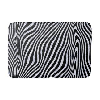 Frosty Zebra Print Bath Mat