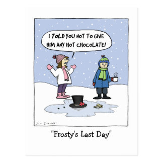 """Frosty's Last Day"" Postcard"
