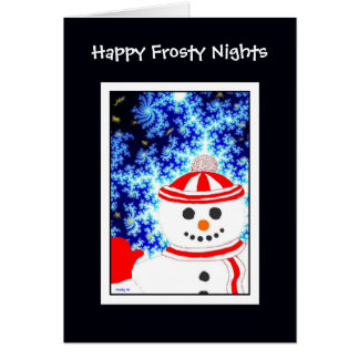 FROSTY'S NIGHT Snowman Design Note Card