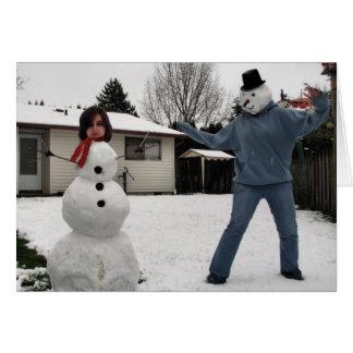Frosty's Revenge Greeting Card