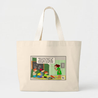 Frosty's Summer Vacation Funny Gifts & Tees Large Tote Bag