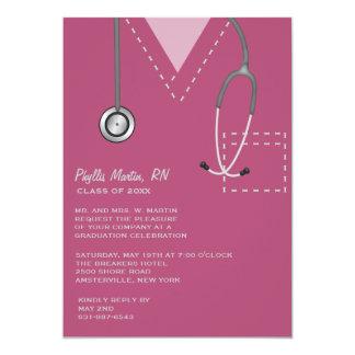 Frotte l'invitation médicale d'obtention du carton d'invitation  12,7 cm x 17,78 cm