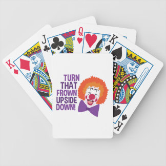 Frown Updide Down Bicycle Playing Cards