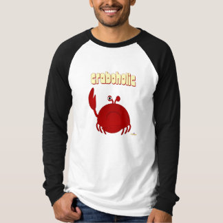 Frowning Red Crab Craboholic T-Shirt
