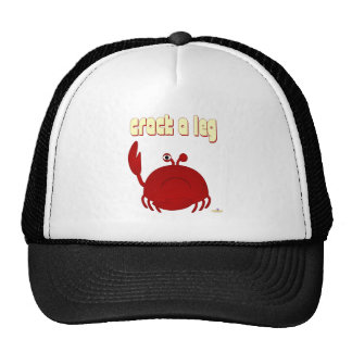 Frowning Red Crab Crack A Leg Mesh Hat