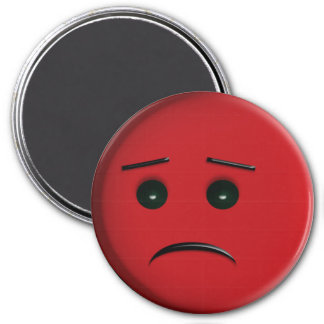 Frowny Face red Magnet