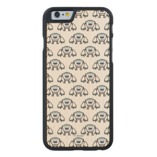 Frozen   8-Bit Marshmallow Carved® Maple iPhone 6 Case