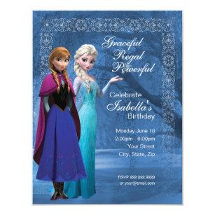 Frozen birthday invitations announcements zazzle ca frozen anna and elsa snowflake birthday invitation filmwisefo Images