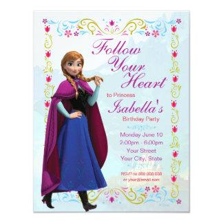 Frozen Anna Birthday Invitation