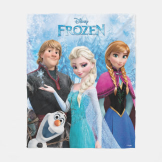 Frozen | Anna, Elsa, Kristoff and Olaf Fleece Blanket