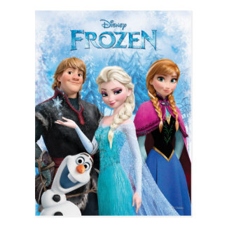 Frozen | Anna, Elsa, Kristoff and Olaf Postcard