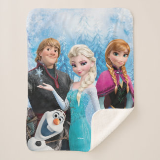 Frozen | Anna, Elsa, Kristoff and Olaf Sherpa Blanket