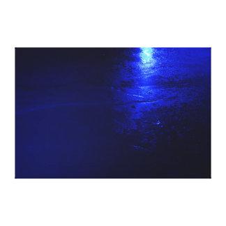 """Frozen Blue  60 X 40, 1.5"""", Single Canvas Print"""