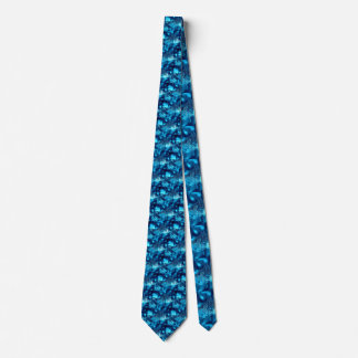 Frozen Blue Abstract Tie