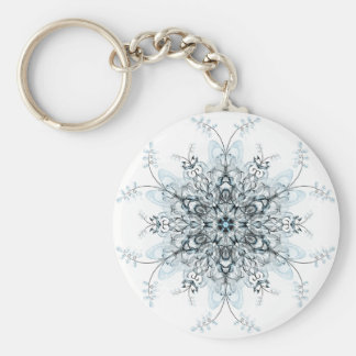 Frozen Bluebells Basic Round Button Keychain