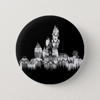 Frozen Castle - B&W 2 Inch Round Button