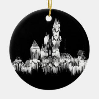 Frozen Castle - B&W Ceramic Ornament