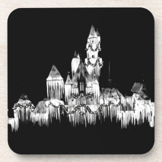 Frozen Castle - B&W Coaster