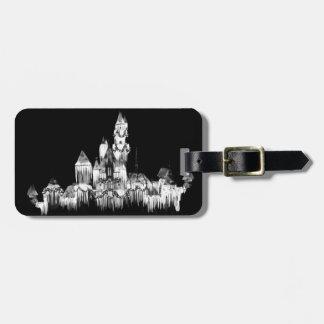 Frozen Castle - B&W Luggage Tag