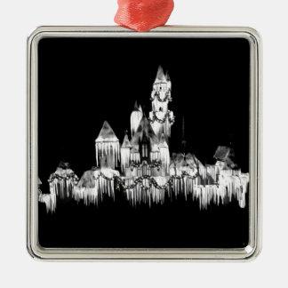 Frozen Castle - B&W Metal Ornament