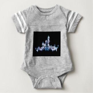 Frozen Castle - Snowflakes Baby Bodysuit