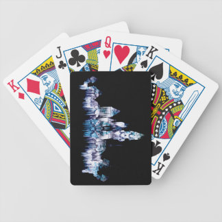 Frozen Castle - Snowflakes Bicycle Playing Cards