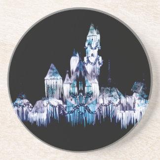 Frozen Castle - Snowflakes Coaster