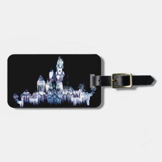 Frozen Castle - Snowflakes Luggage Tag