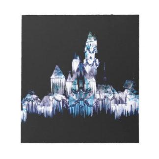 Frozen Castle - Snowflakes Notepad