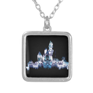 Frozen Castle - Snowflakes Silver Plated Necklace