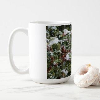 Frozen Cedar Tree Branch Coffee Mug
