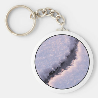 Frozen chasm basic round button keychain