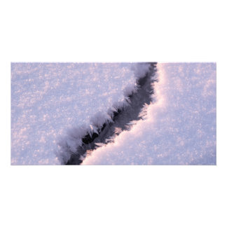 Frozen chasm photo greeting card