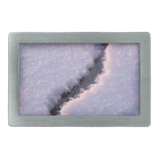 Frozen chasm rectangular belt buckles