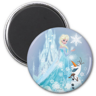 Frozen | Elsa and Olaf - Icy Glow 2 Inch Round Magnet