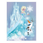 Frozen | Elsa and Olaf - Icy Glow Postcard