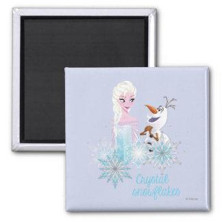 Frozen | Elsa and Olaf Square Magnet