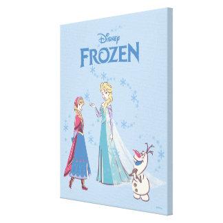 Frozen | Elsa, Anna & Olaf Canvas Print