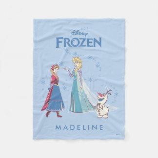 Frozen | Elsa, Anna & Olaf Fleece Blanket