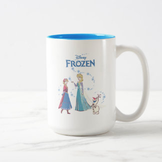 Frozen | Elsa, Anna & Olaf Two-Tone Coffee Mug