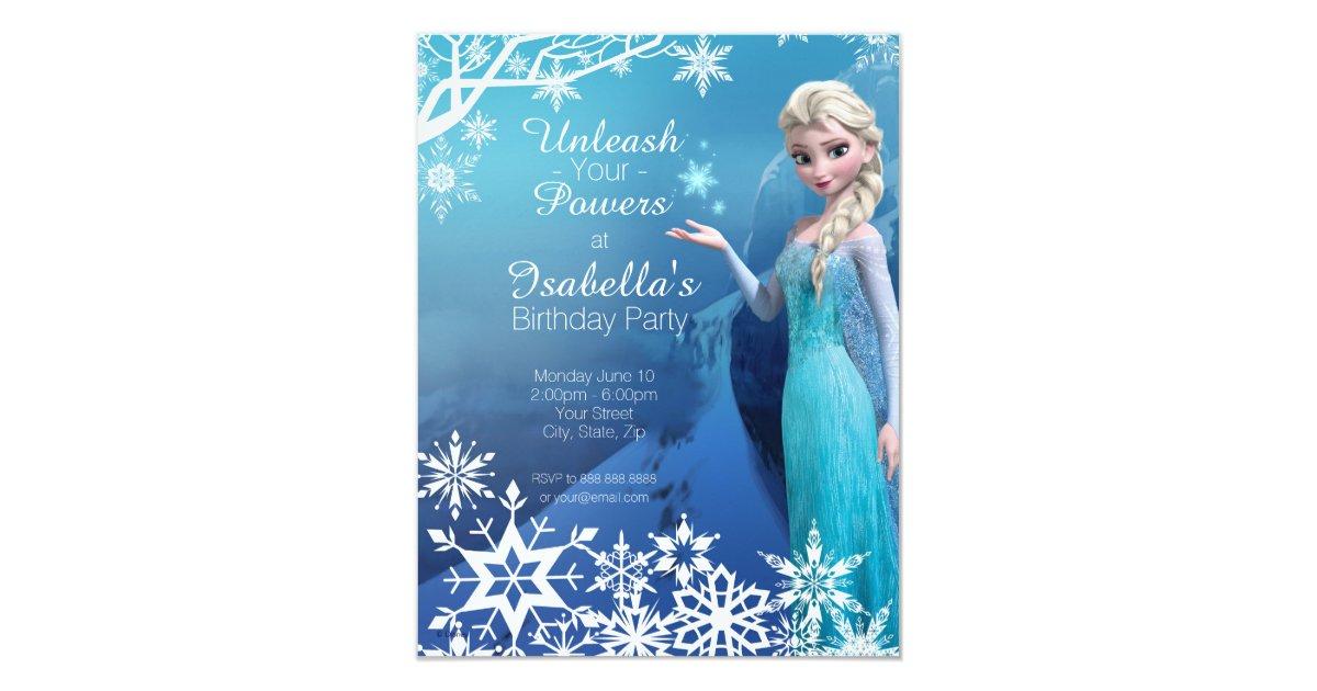 Frozen Elsa Birthday Party Invitation  Zazzle