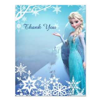 "Frozen Elsa Birthday Party Thank You 4.25"" X 5.5"" Invitation Card"