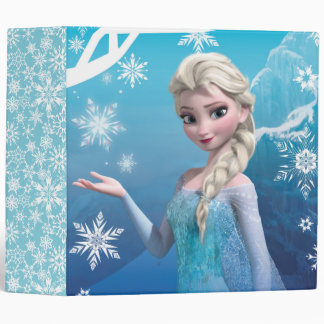 Frozen | Elsa Over the Shoulder Smirk 3 Ring Binders