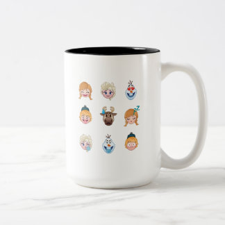 Frozen Emoji Characters Two-Tone Coffee Mug