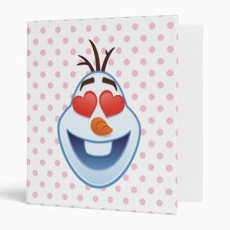 Frozen Emoji | Olaf with Heart-Shaped Eyes Binders