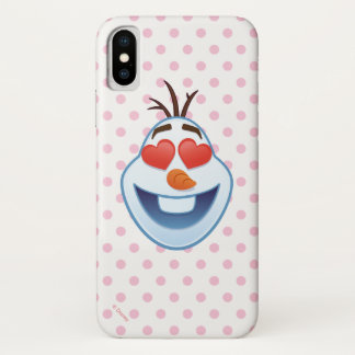 Frozen Emoji | Olaf with Heart-Shaped Eyes iPhone X Case